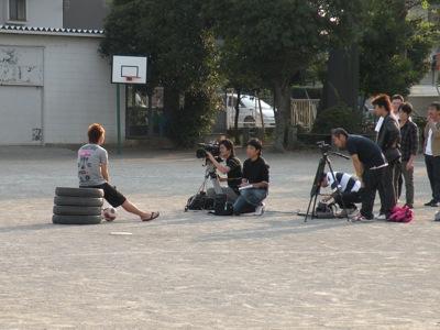 小野選手 インタビュー撮影中